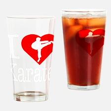 I-Heart-Karate-Darks Drinking Glass