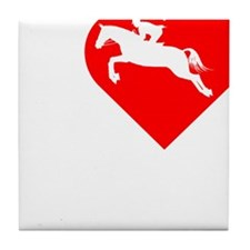 I-Heart-Riding-darks Tile Coaster