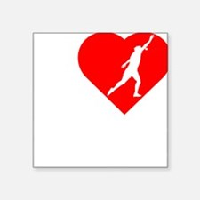 "I-Heart-Shotput-darks Square Sticker 3"" x 3"""