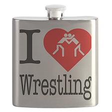 I-Heart-Westling Flask