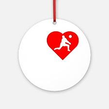 I-Heart-Volleyball-darks Round Ornament