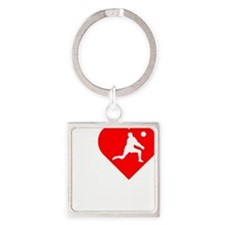 I-Heart-Volleyball-darks Square Keychain