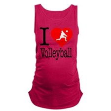 I-Heart-Volleyball Maternity Tank Top