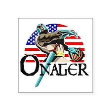 """Onager Team USA trans-1 Square Sticker 3"""" x 3"""""""