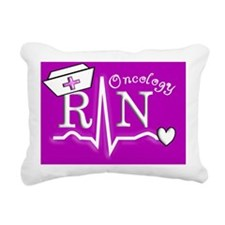Oncology RN Purple Rectangular Canvas Pillow