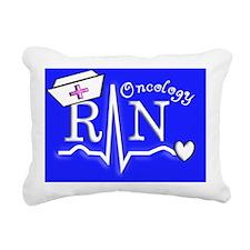 Oncology RN Blue Rectangular Canvas Pillow