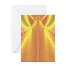 fractal-gold-flipflops Greeting Card