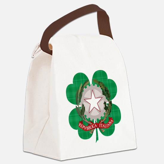 Irish Italian Heritage Canvas Lunch Bag