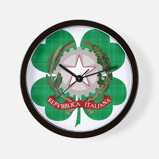 Irish Italian Heritage Wall Clock