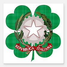 """Irish Italian Heritage Square Car Magnet 3"""" x 3"""""""