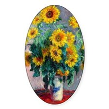PC Monet Sunflowers Decal