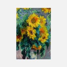 441 Monet Sunflowers Rectangle Magnet