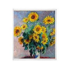 FF Monet Sunflowers Throw Blanket