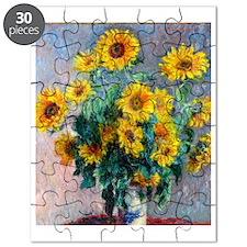 FF Monet Sunflowers Puzzle
