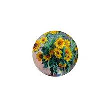 NC Monet Sunflowers Mini Button