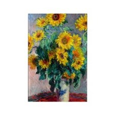 NC Monet Sunflowers Rectangle Magnet