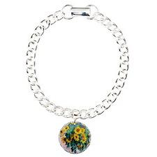 NC Monet Sunflowers Charm Bracelet, One Charm