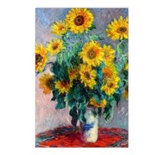 NC Monet Sunflowers Postcards (Package of 8)