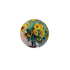 Pillow Monet Sunflowers Mini Button