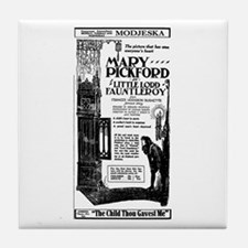 Mary Pickford Little Lord Tile Coaster