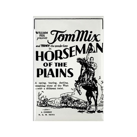 Tom Mix Horseman of the Plains Rectangle Magnet