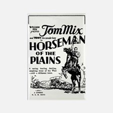 Tom Mix Horseman of the Plains Rectangle Magnet