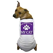 PropCat-WoDkPurp-11x11 Dog T-Shirt