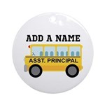 Personalized Assistant Principal Ornament (Round)