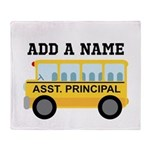Personalized Assistant Principal Throw Blanket