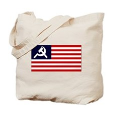 Communist US Flag Tote Bag