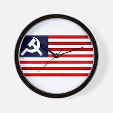 Communist US Flag Wall Clock