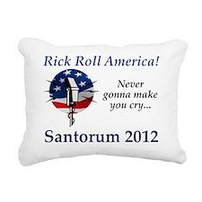 RickRollAmerica_flag Rectangular Canvas Pillow