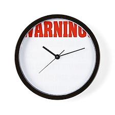 WARNING LOVE Wall Clock