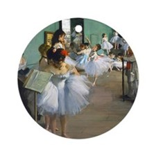 Pillow Degas DanceC Round Ornament