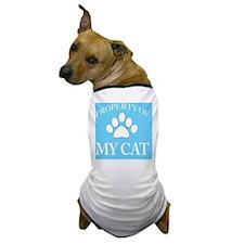 PropCat-WoNeonBlue-11x11 Dog T-Shirt