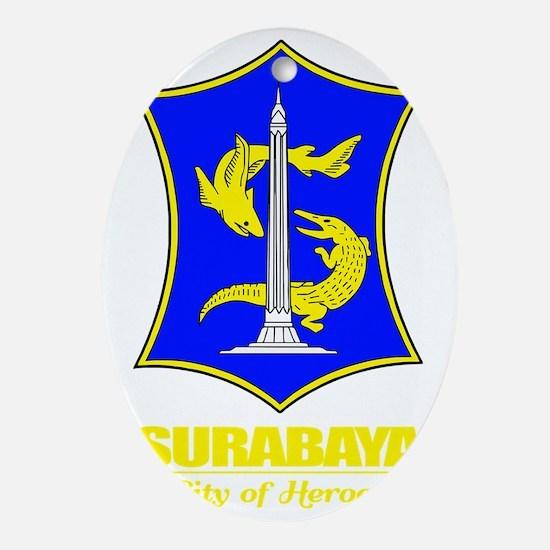Surabaya (yellow) Oval Ornament