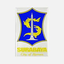 Surabaya (yellow) Rectangle Magnet