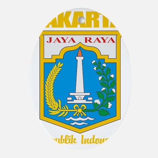 Jakarta COA (gold) Oval Ornament