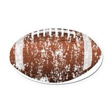 Football-Scatched-2 Oval Car Magnet