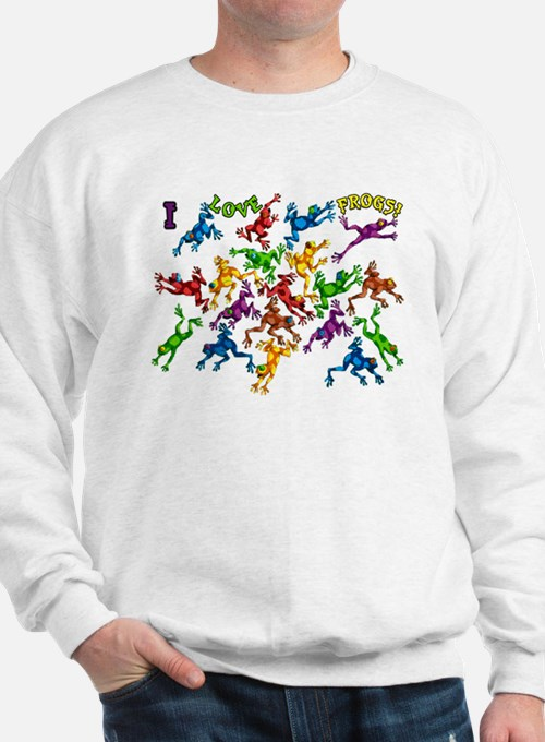 Colorful Poison Dart frogs Sweatshirt