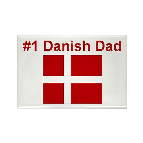 #1 Danish Dad Rectangle Magnet