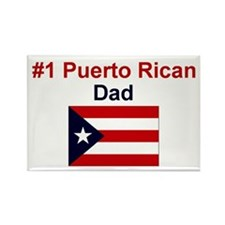 #1 Puerto Rican Dad Rectangle Magnet