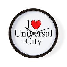 """""""I Love Universal City"""" Wall Clock"""