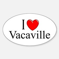 """""""I Love Vacaville"""" Oval Decal"""