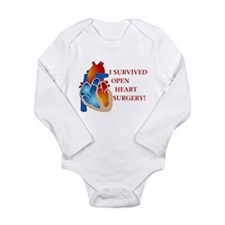 I Survived Open Heart Surgery Body Suit