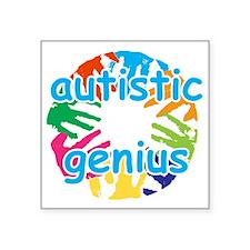 """autt geniu2 Square Sticker 3"""" x 3"""""""