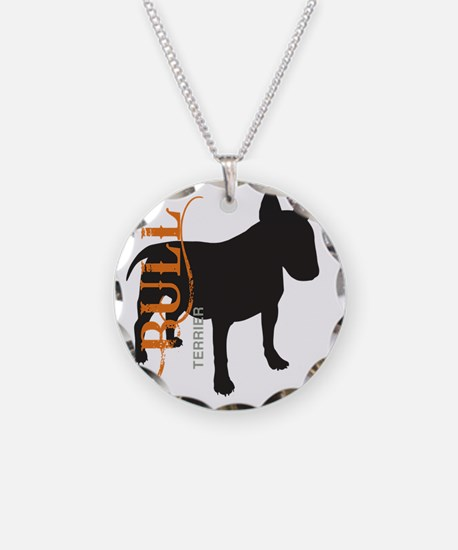 grungesilhouette Necklace Circle Charm