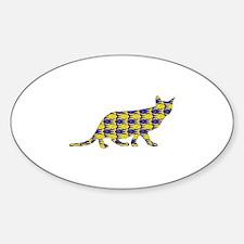 Ocicat Fish Oval Decal