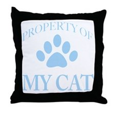 PropTransLtBlue Throw Pillow