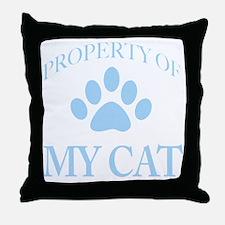 PropTransLtBlue Throw Pillow